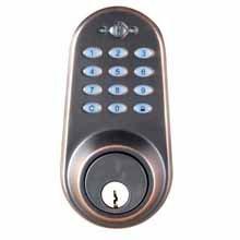 Lockstate Ls-Dbs-Vb Digital Keyless Ir Remote Control Deadbolt Lock