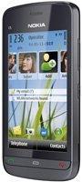 Nokia Nokia C5-03 Smartphone (8.1cm (3.2 Zoll) Touchscreen, 3.5mm Klinkenbuchse, Ovi Karten, GPS) graphite black