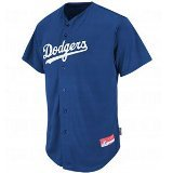 Los Angeles Dodgers MLB COOL BASE Full Button Major League Baseball Replica Jersey by Authentic Sports Shop