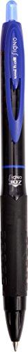 Uni-ball Signo 307RT - Bolígrafo de punta rodante (12 unidades), color negro, color azul 12 unidades