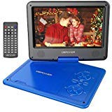DBPOWER 9.5-Inch Portable DVD Player with Rechargeable Battery, SD Card Slot and USB Port - Blue (Color: Blue)
