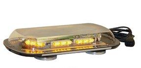Sho-Off LED Single Tier Mini-Light Bar, Magnet Mount-Amber/Red