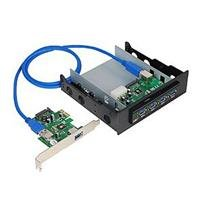 Superspeed USB3.0 Bay Hub Kit with A Frontaccessible 4PORT Bay Hub  A 2-PORT Pci