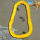 34 Inch Long Yellow Plastic Leis Sold By The Dozen - 1