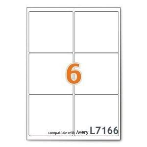 A4 Mailing Address Printer Labels Sheet 6 Labels Per Sheet 100 Sheets 1 Box