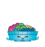 Shopkins Season 2 #2-041 Fifi Fruit Tart (Rare)