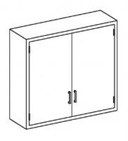 """Double Solid Hinged Doors Wall Cabinet With 3 Shelves - 35""""W X 48""""H X 13""""D front-417957"""