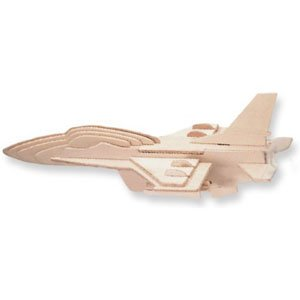 Puzzled F-16 Fighting Falcon Wooden 3D Puzzle Construction Kit - 1