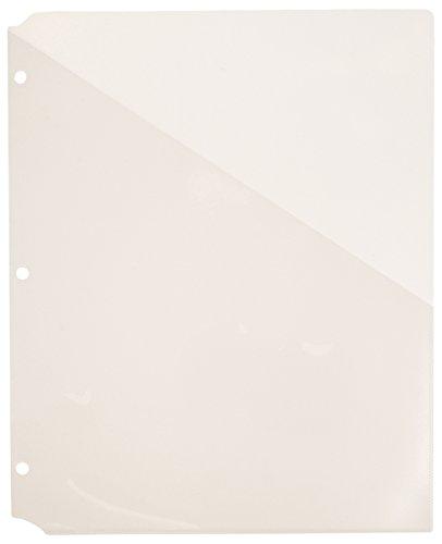 Avery Clear Binder Pockets, Acid Free - 5 Pack (75243) Acid Free Folders