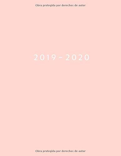 Agenda MAYO 2019 - ABRIL 2020 Vista Semanal con Horario | 1 Semana en 2 Páginas | 12 Meses Planificador y Calendario | 21.59x27.94 cm | 8.5x11 | Rosa  [Tu Día Planner] (Tapa Blanda)