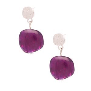 Annie Purple Post Earrings