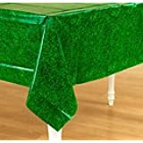 """""""Grass Effect Party Tablecover, 54 X 102 , Plastic - suitable for 8 persons"""""""