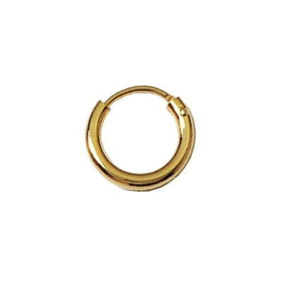 18K Gold Plated 12 mm Creole - Wide Thread - Hoop Earrings