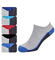 5 Pairs of Cotton Rich Trainer Liner Socks with Stay New™ Technology