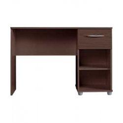 Desk or dressing table dark wood wenge 1 drawer 2 shelves london bedroom furniture - Dressing wenge ...
