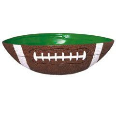 Amscan Football Frenzy Birthday Party Large Bowl (1 Piece), Green/Brown, 12.4 x 10.2