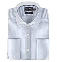 Performance Pure Cotton Slim Fit Striped Shirt