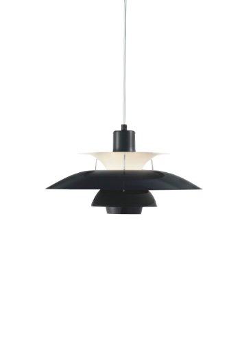 Louis Poulsen Leuchte PH 5 - Olive Black (schwarz) Poul Henningsen 1930, Schirme und , Verbindungsstäbe: Aluminium,, Wohnzimmerleuchte - Tischleuchte - Pendelleuchte - Deckenleuchte