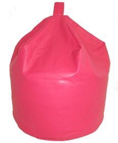 Large Childrens Faux Leather Bean Bag Dark Hot Pink Kids Teen Game Chair Gaming