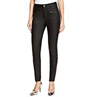 M&S Collection Coated Ankle Grazer Zipped Denim Jeggings