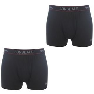 Lonsdale 2 Pack Trunk Mens Black Medium