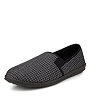 Freshfeet™ Houndstooth Print Slippers with Silver Technology