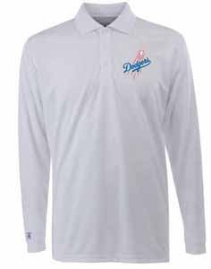 Los Angeles Dodgers Long Sleeve Polo Shirt (White) - XX-Large by Antigua
