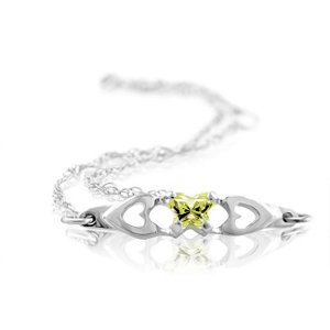 Genuine IceCarats Designer Jewelry Gift 10K White Gold Bfly Cz Birthsto Brc W/Box. August Brc W/Box Bfly Cz Birthsto Brc W/Box In 10K White Gold