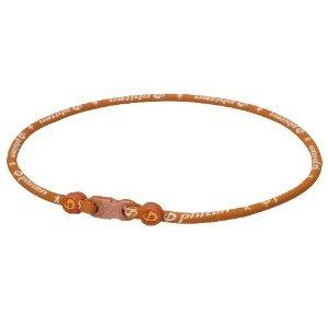 Phiten Titanium Necklace Star Star Necklace, Orange, 18