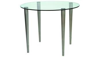 Slender Pin Coffee Table 525 x 525 frosted/coloured