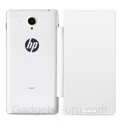 HP Slate 7 Flip case with Screen Protector (White)