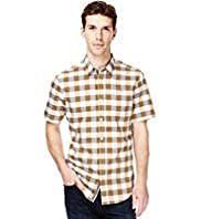 Autograph Slim Fit Pure Cotton Bold Gingham Checked Shirt