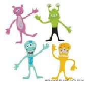 Bendable Monsters - Package of 16 - Halloween Party Favors - Give A Ways