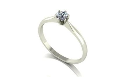 Moissanite 18ct White Gold 0.25 Carat Solitaire Ring - Zoe Kay Jewellery
