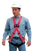 MSA Extra Large FP Pro Cross-Chest Harness With Quik-Fit Leg Buckles, 1 Back And 2 Hip D-Ring