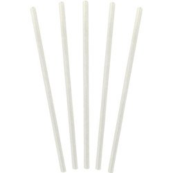 Waddington North America Jumbo Unwrapped Clear Straws, 7.75 (04-0467) Category: Unwrapped Straws