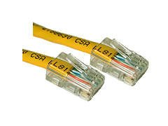 CABLES TO GO 10FT CAT5E 350 MHZ CROSSOVER PATCH CABLE YELLOW Exceeds Category 5e Specifications New