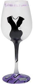 Lolita Little Black Dress Wine Glass GLS11-5590R
