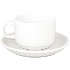Athena Hotelware Saucer - Box quantity 24. For stacking & cappuccino cup (CC200 & CC201).