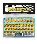 Yellow Numbers Dry Transfer - Buy Yellow Numbers Dry Transfer - Purchase Yellow Numbers Dry Transfer (Pinecar, Toys & Games,Categories,Learning & Education)