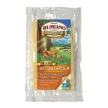 Rumiano Cheese Organic Sliced Medium Cheddar Cheese, 6 Ounce -- 12 per case.