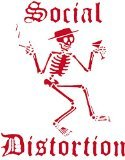 CandD Visionary Social Distortion Rub-On Sticker Red - 1
