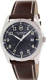 Victorinox Swiss Army Infantry Black Dial SS Leather Quartz Men's Watch 241563 Rating