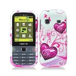 For T-mobil Samsung T379 Gravity Txt Accessory - Heart Design Hard Case Proctor Cover + Lf Stylus Pen