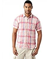 North Coast Pure Linen Ombre Checked Shirt