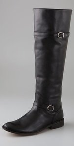 Cheap Frye Shirley Riding Black Leather (B004I9X8BC)