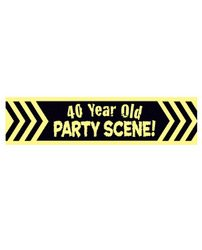 Laid Back 40 Year Old Party Scene! Decorative Tape