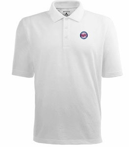 Minnesota Twins Classic Pique Xtra Lite Polo Shirt (White) - XXX-Large by Antigua