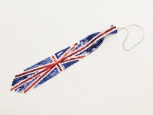 Bristol Novelty BA907 Union Jack Sequin Long Tie
