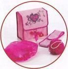 Style Addict from Avon Girls Wash Set - Pink Wash Bag, Cotton Headband, Shower Cap, Scrunchie